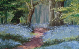 A Brush With Bluebells: SOLD