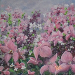 """""""Pink Flowers"""" SOLD"""