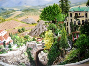 """The Other Side of Ronda Bridge"": £80.00 box canvas"