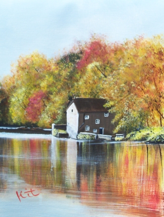 Autumn on the River Wear: SOLD